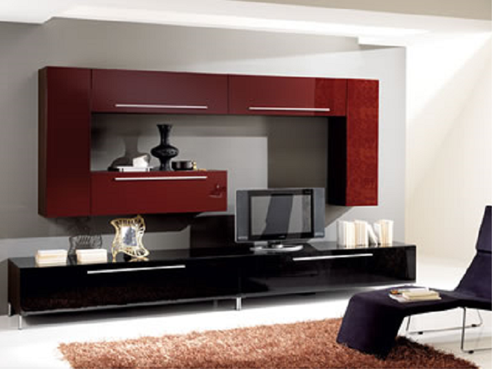 meuble laqu bordeaux in cosi. Black Bedroom Furniture Sets. Home Design Ideas